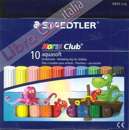 Staedtler Noris Club 10 Aquasoft. Kinderknete. Modelling Clay For Children. Pasta Da Modellare per Bambini.