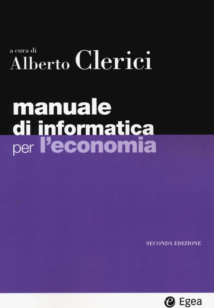 Manuale informatica economia.