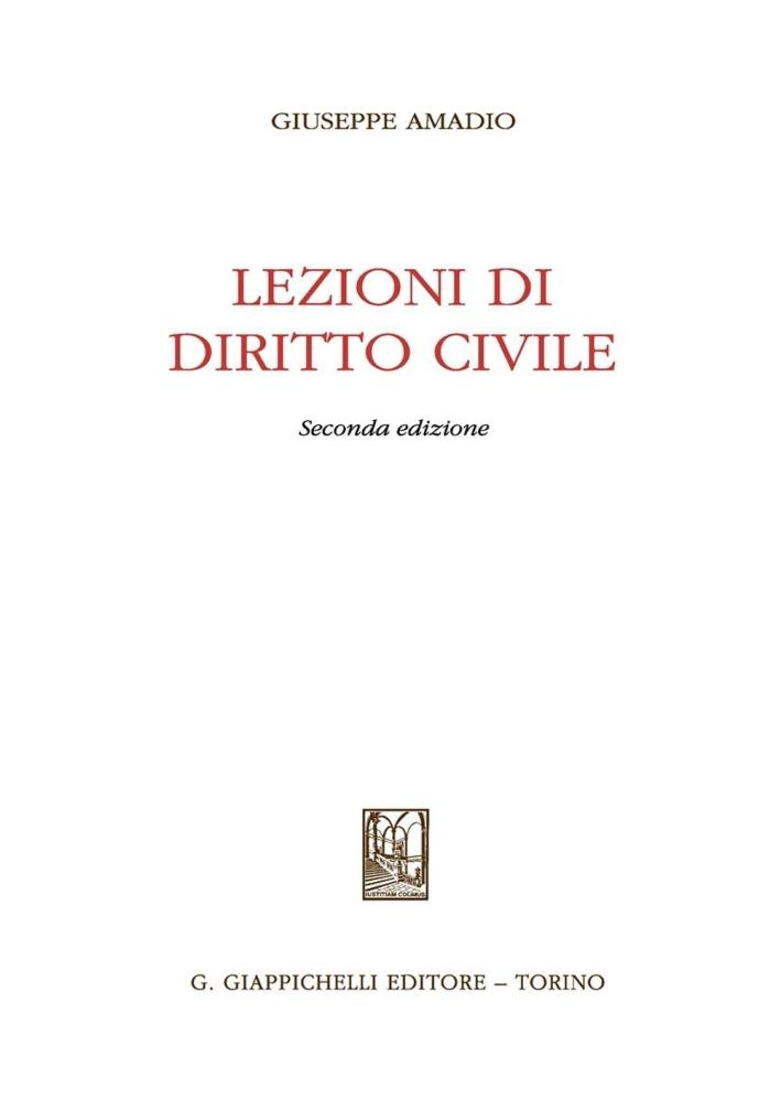 Lezioni di diritto civile.