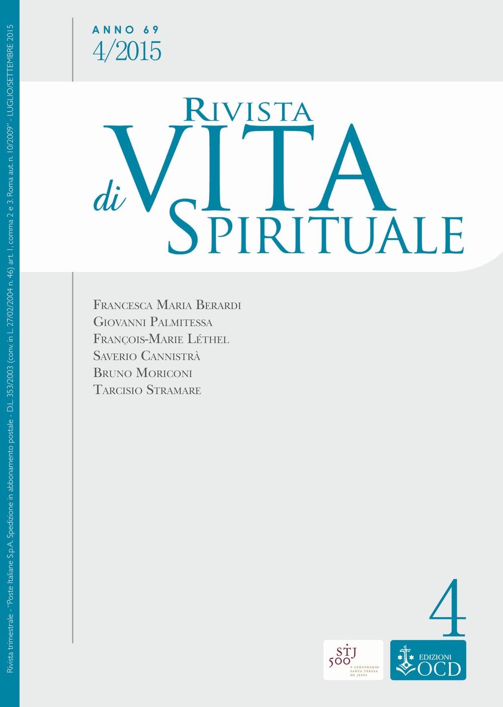 Rivista di vita spirituale (2015). Vol. 4