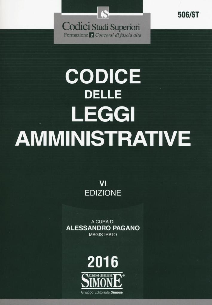 Codice delle leggi amministrative.