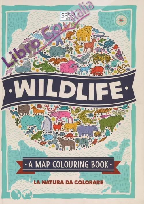 Wildlife. Map colouring book.