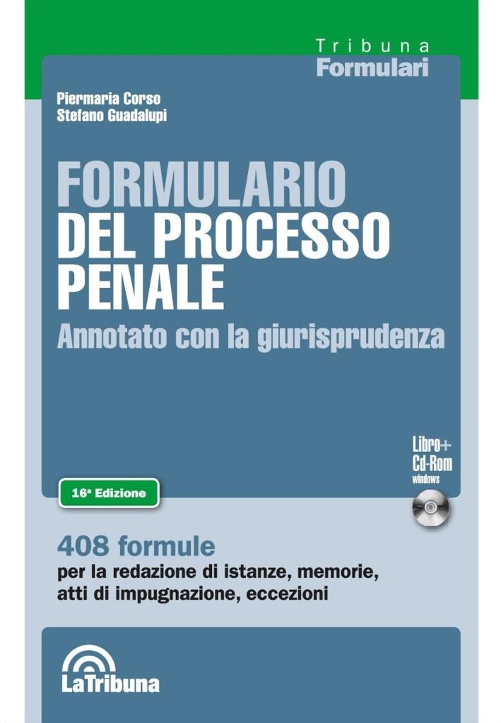 Formulario del Processo Penale.