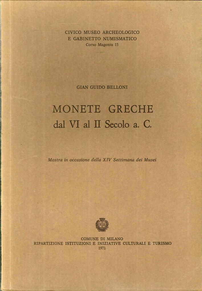 Monete Greche dal IV al II Secolo a.C.