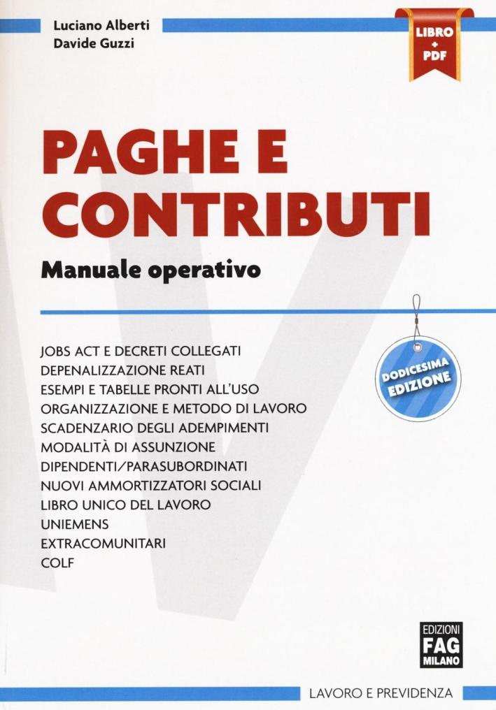 Paghe e Contributi. Manuale Operativo.