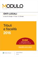 Modulo enti locali 2016. Tributi e fiscalità.