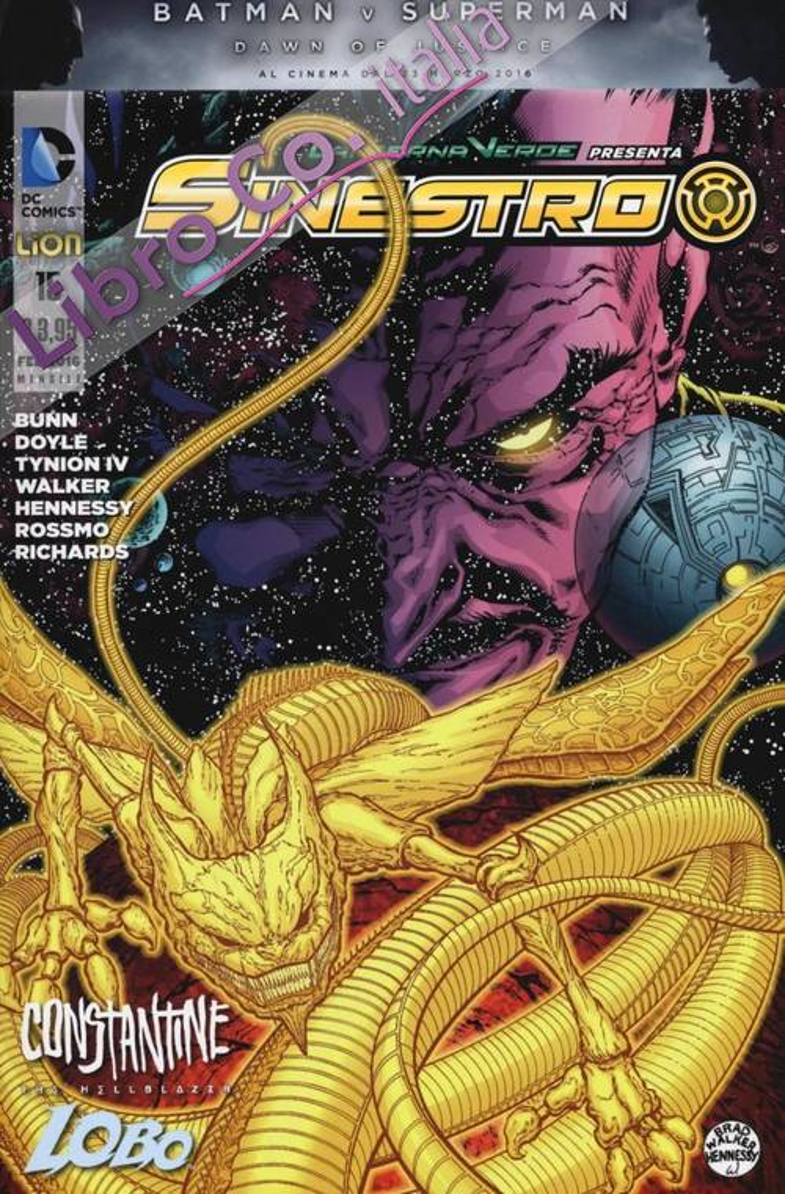 Lanterna verde presenta: Sinestro. Vol. 15.