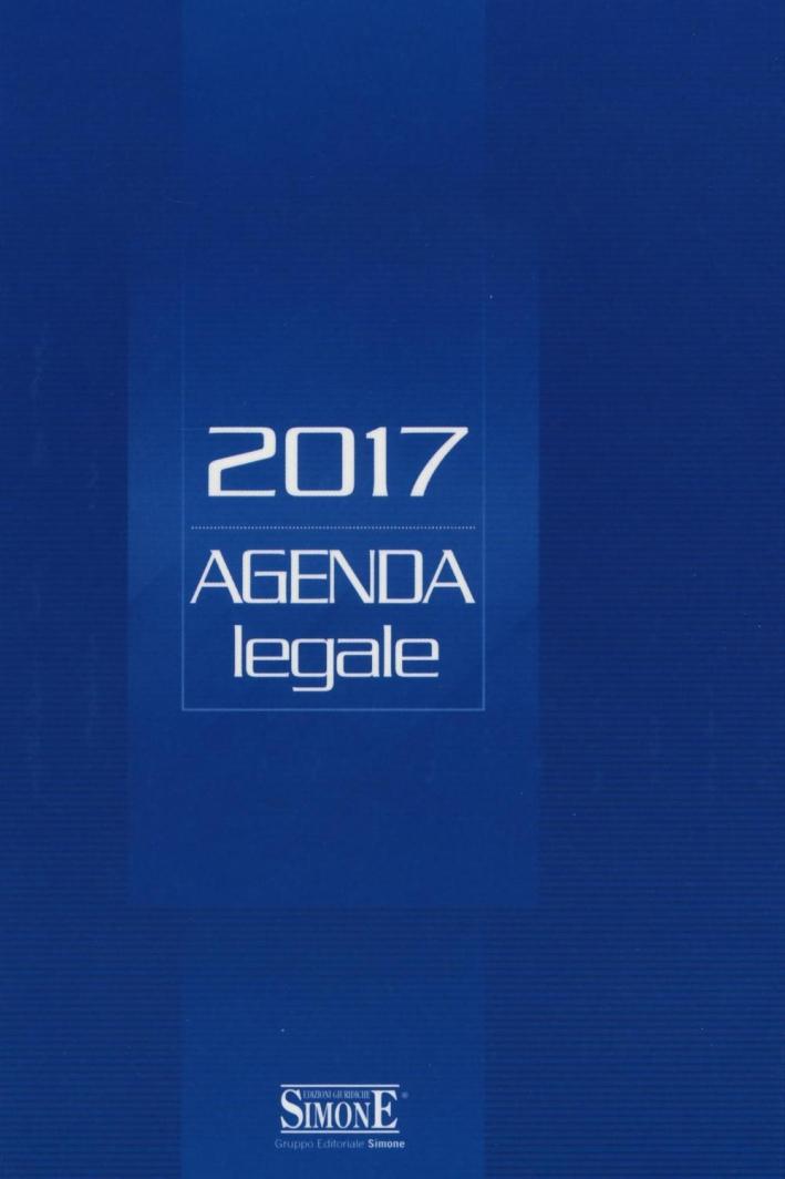 Agenda legale 2017. Blu. Ediz. minore