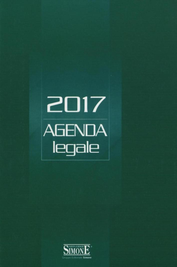 Agenda legale 2017. Verde.