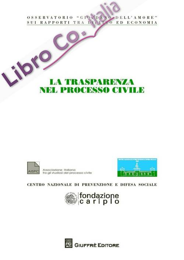 La trasparenza nel processo civile.
