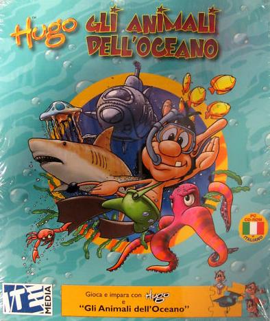 Hugo e gli Animali dell'Oceano. Pc CD Rom.