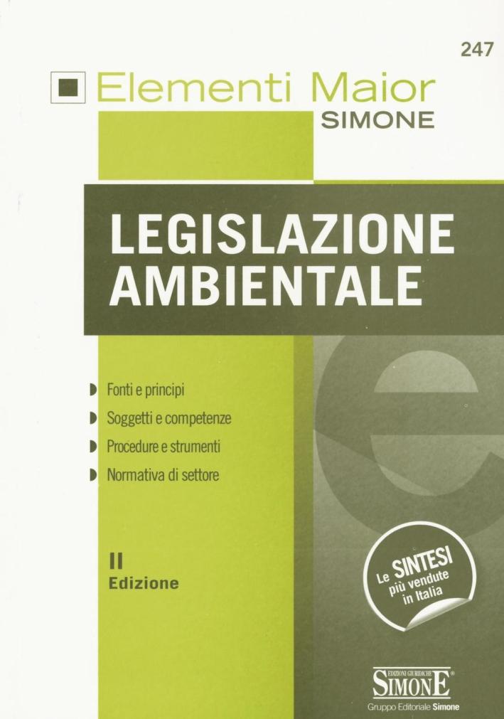 Legislazione ambientale.