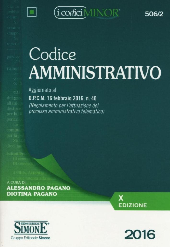 Codice amministrativo. Ediz. minore.