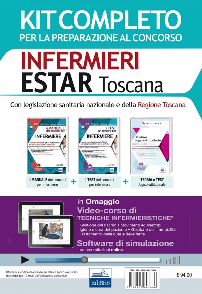 Concorso Infermieri Estar Toscana. Kit completo per tutte le prove del concorso 2016 e software di simulazione. Con e-book