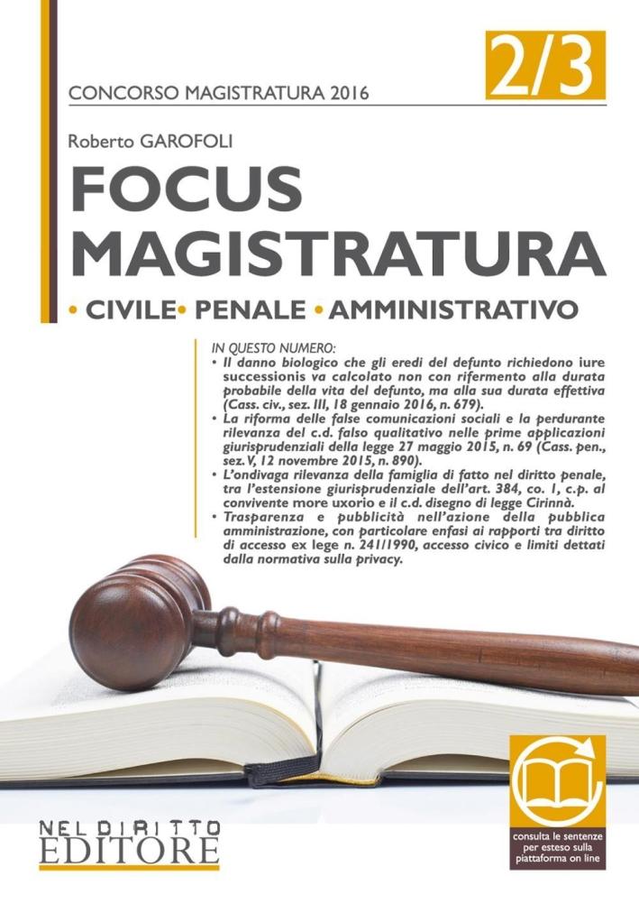 Focus Magistratura 2/3 2016.