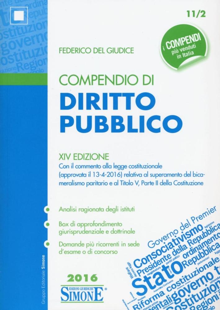 Compendio di diritto pubblico.