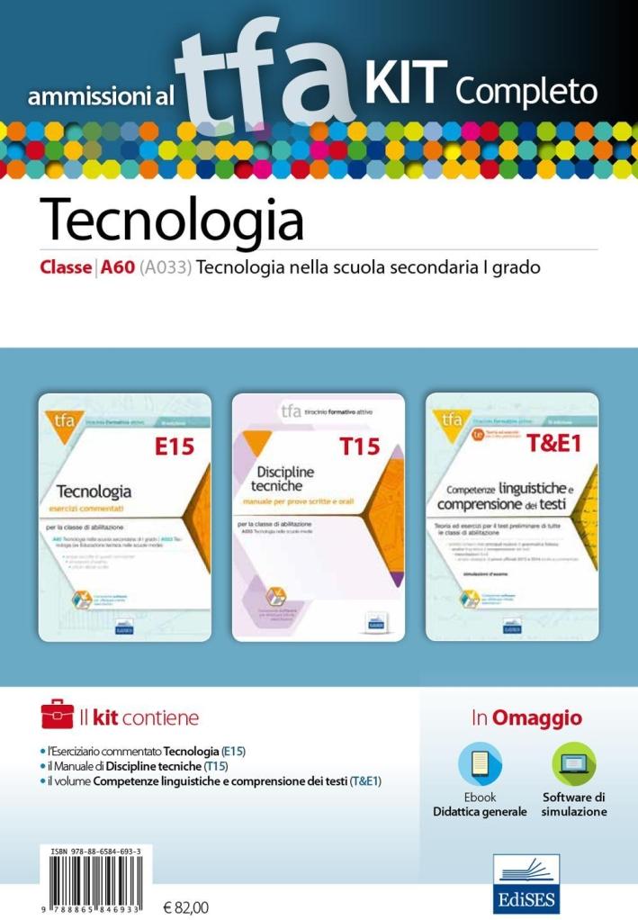 TFA. Tecnologia classe A60 (A033) per prove scritte e orali. Kit completo. Con software di simulazione