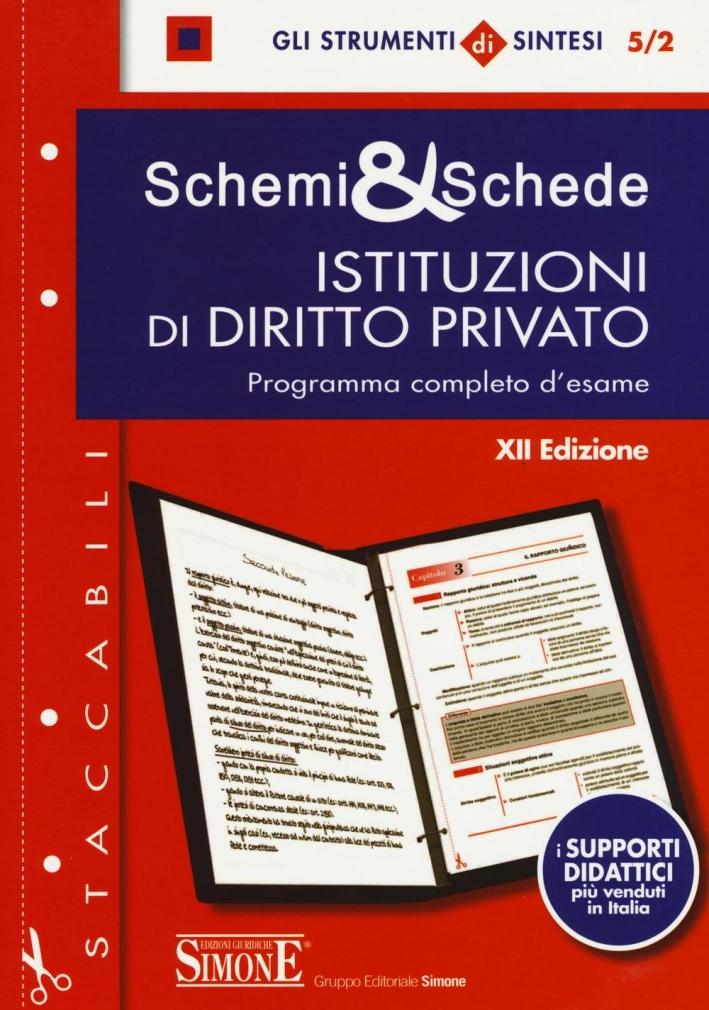 Schemi & schede di istituzioni di diritto privato. Programma completo d'esame.