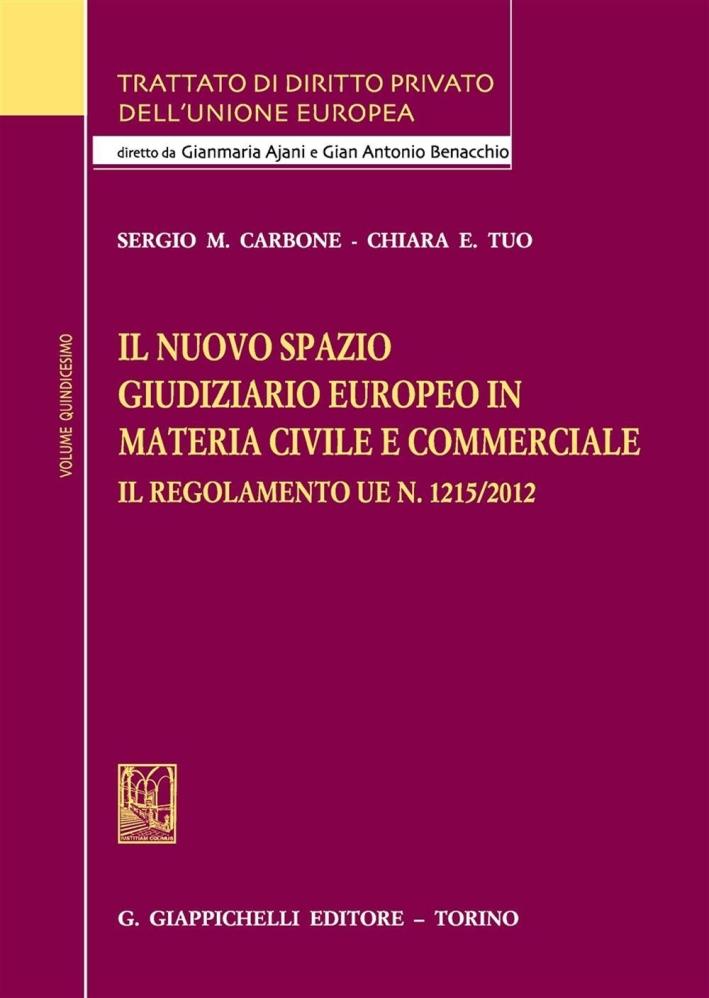 Il Nuovo Spazio Giudiziario Europeo in Materia Civile e Commerciale