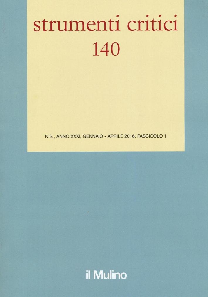 Strumenti critici (2016). Vol. 1.