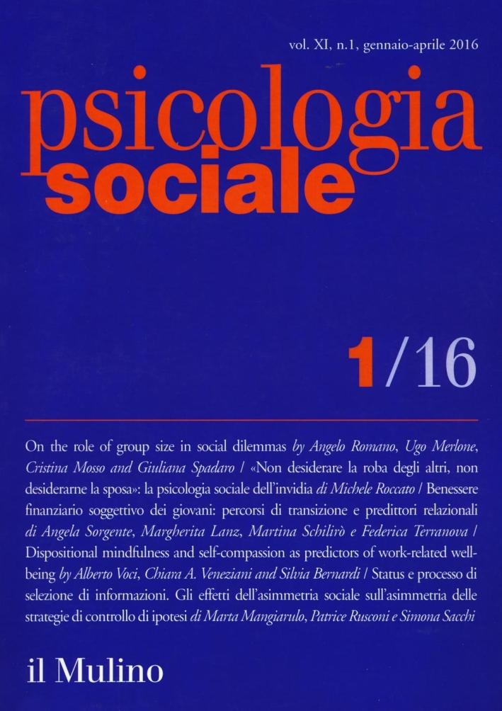 Psicologia sociale (2016). Vol. 1.