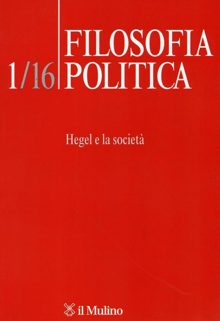 Filosofia politica (2016). Vol. 1.