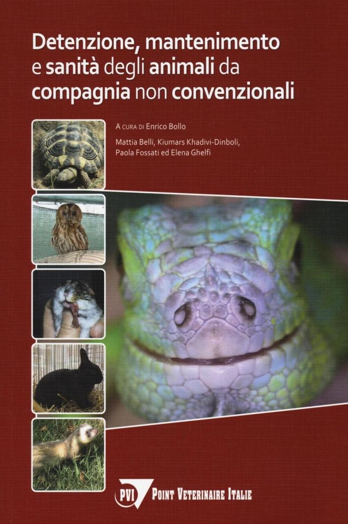 Detenzione, mantenimento e sanità degli animali da compagnia non convenzionali.