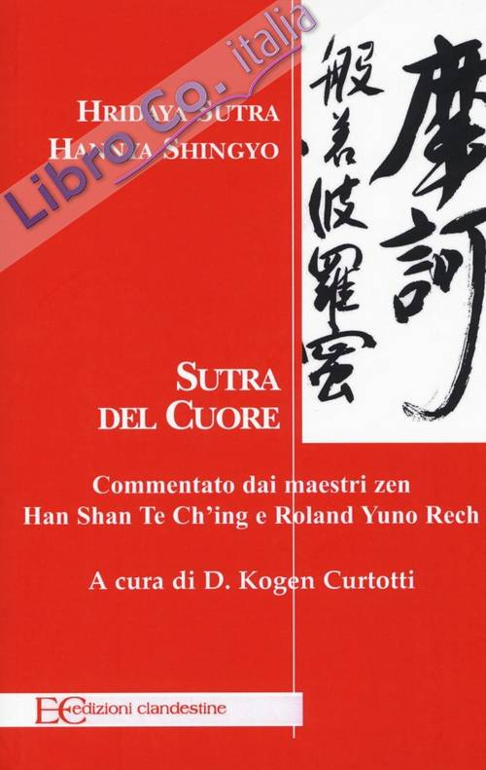 Sutra del cuore. Hridaya Sutra. Hannya Shingyo.