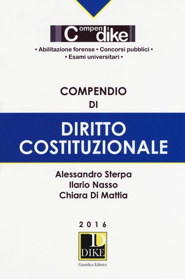 Compendio di diritto costituzionale.