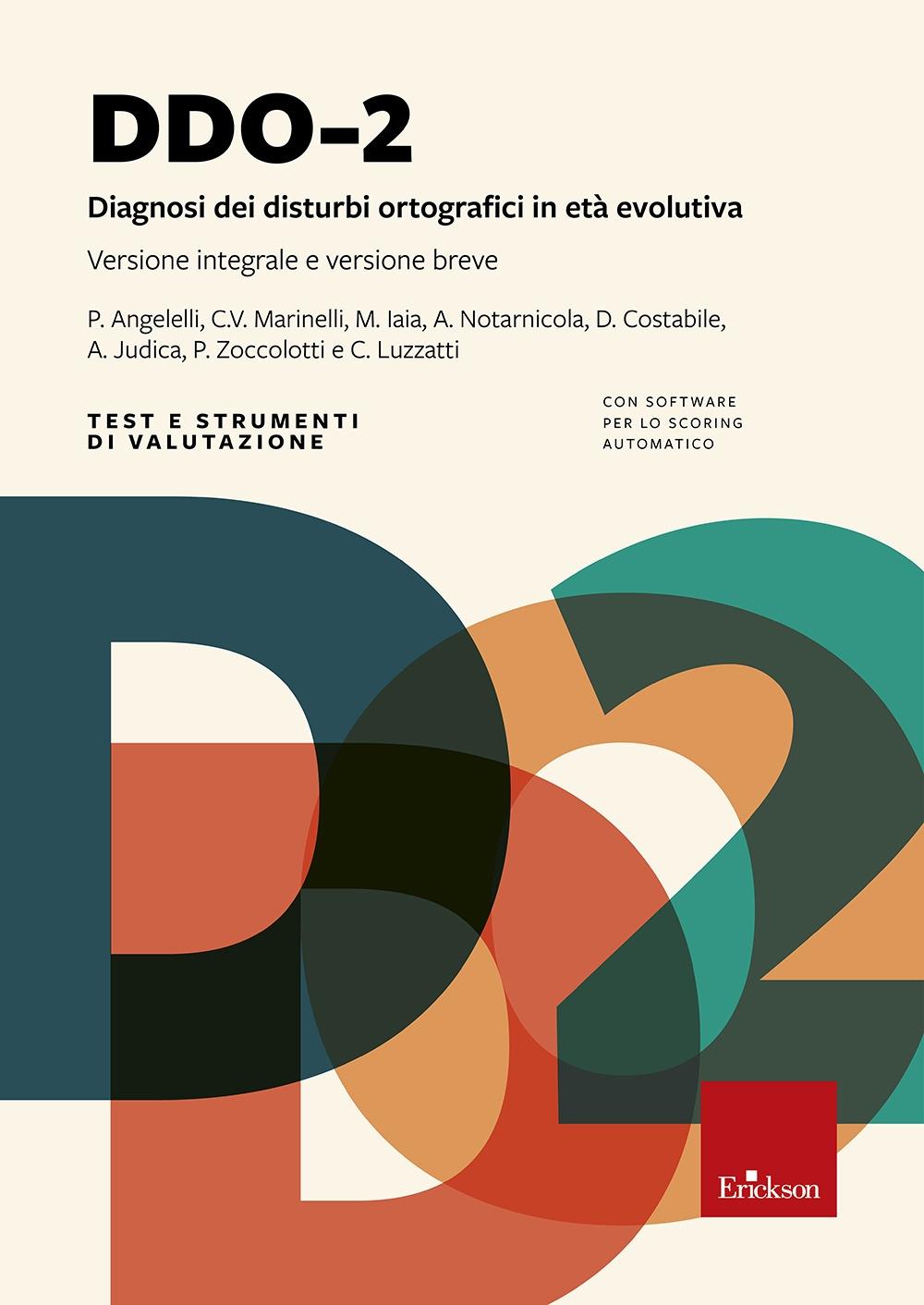 DDO-2. Diagnosi dei disturbi ortografici in età evolutiva.
