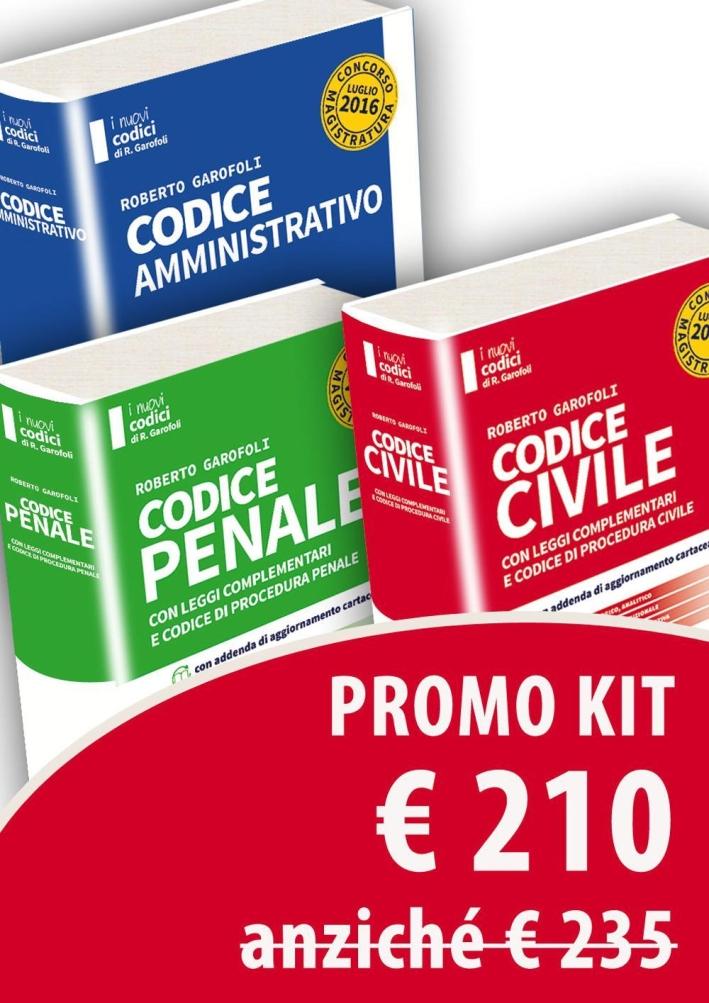 Kit Diritto civile-Diritto penale-Diritto amministrativo o