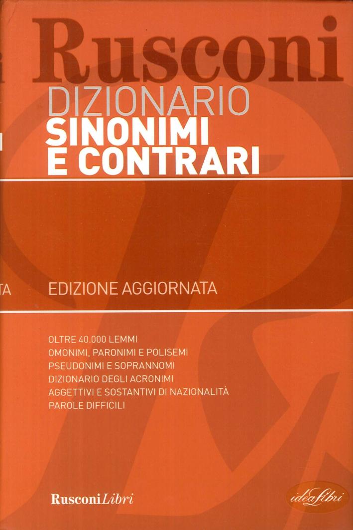 Dizionario Sinonimi e Contrari.