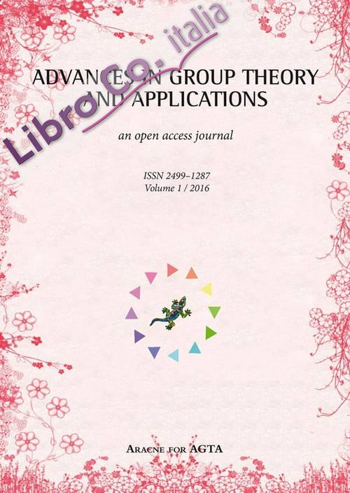 Advances in group theory and applications (2016). Vol. 1