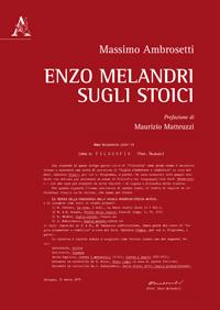 Enzo Melandri sugli stoici.