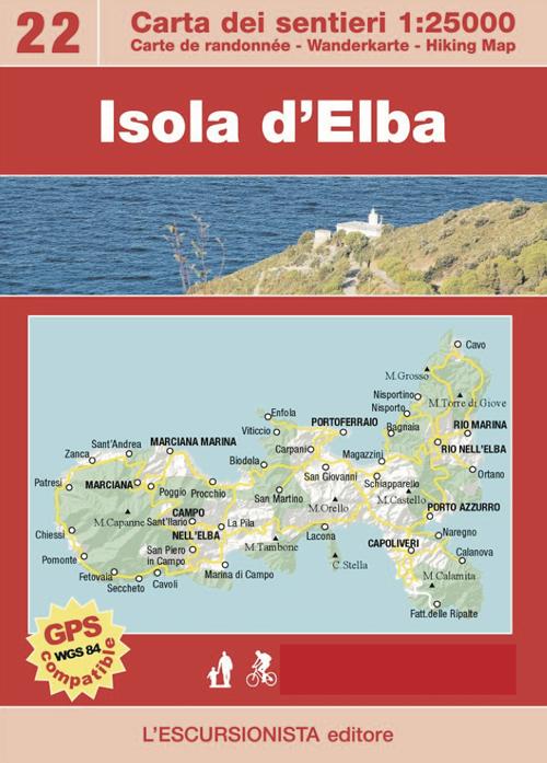 Isola d'Elba. Große Elba-Durchquerung. Con carta escursionistica 1:25.000