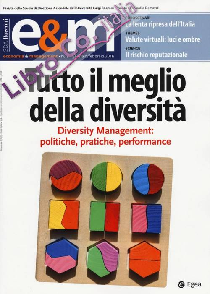 Economia & management (2016). Vol. 1.