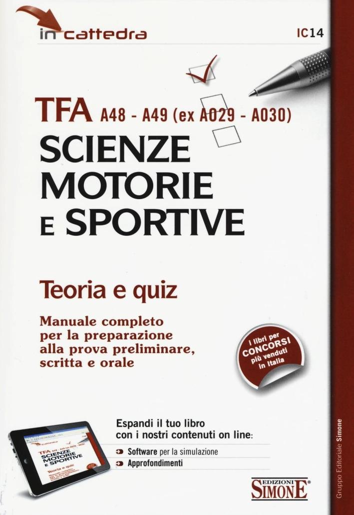 TFA A48-A49 (ex A029-A030). Scienze motorie e sportive.