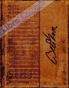 Beethoven Wrap Ultra Lined Journal. Quaderno Pentagrammato Ultra Beethoven