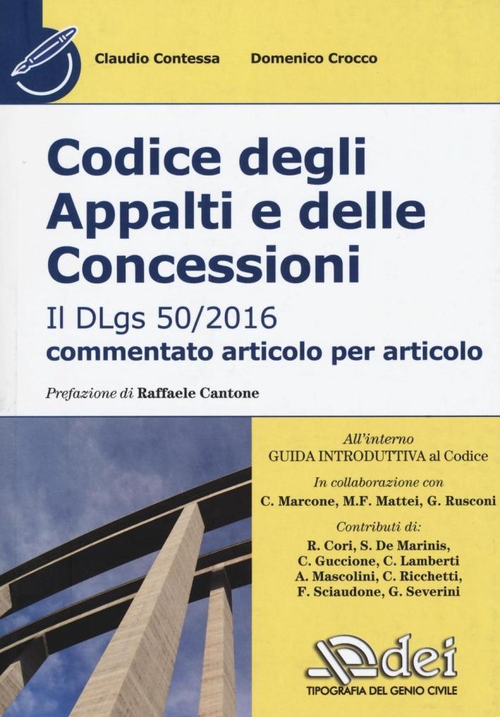 CODICE APPALTI E CONCESSIONI DLGS 50/16.