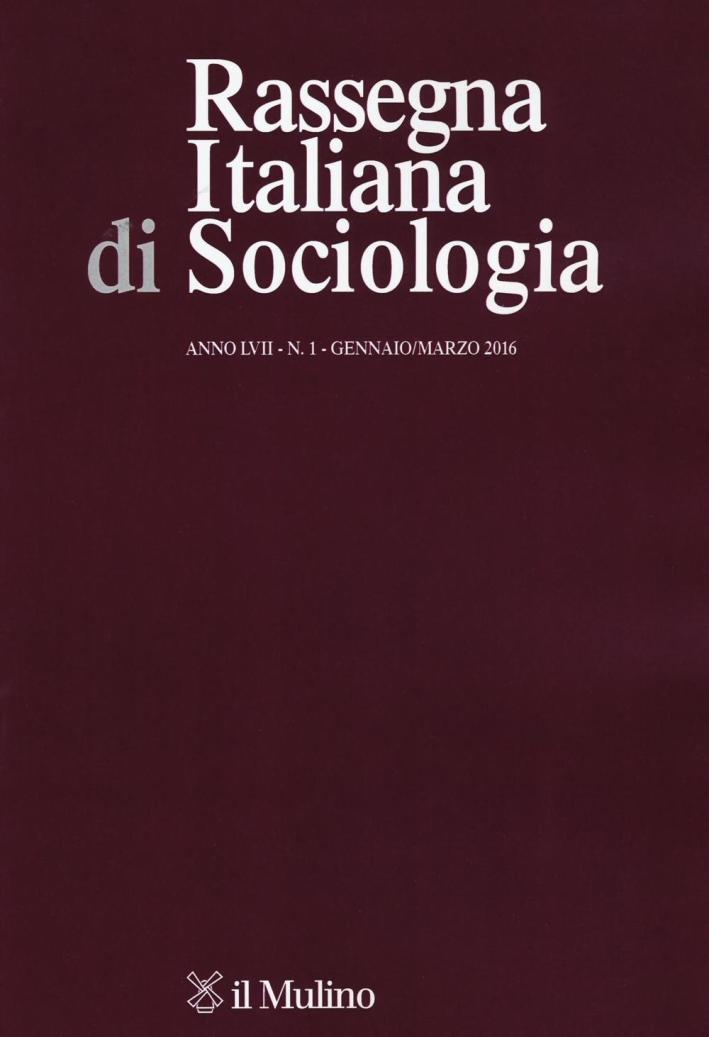 Rassegna italiana di sociologia (2016). Vol. 1.