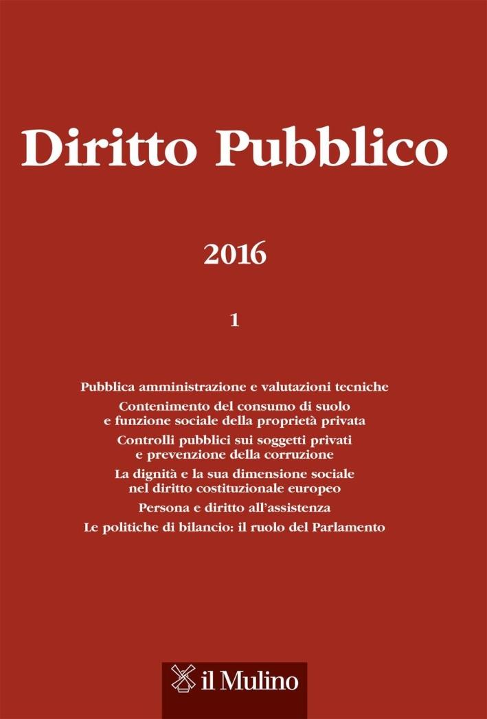 Diritto pubblico (2016). Vol. 1.