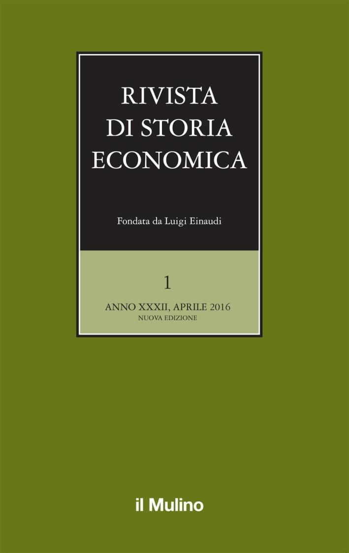 Rivista di storia economica (2016). Vol. 1