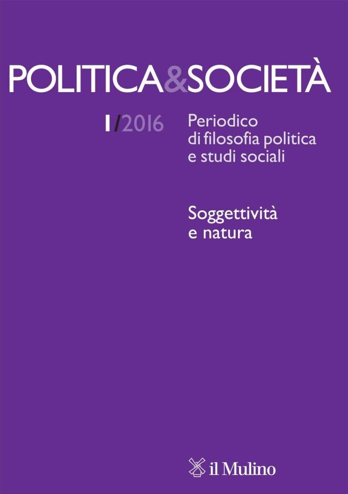 Politica & società (2016). Vol. 1.