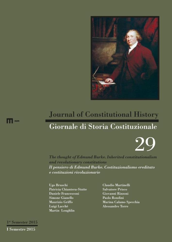 Giornale di storia costituzionale. Ediz. italiana e inglese. Vol. 29