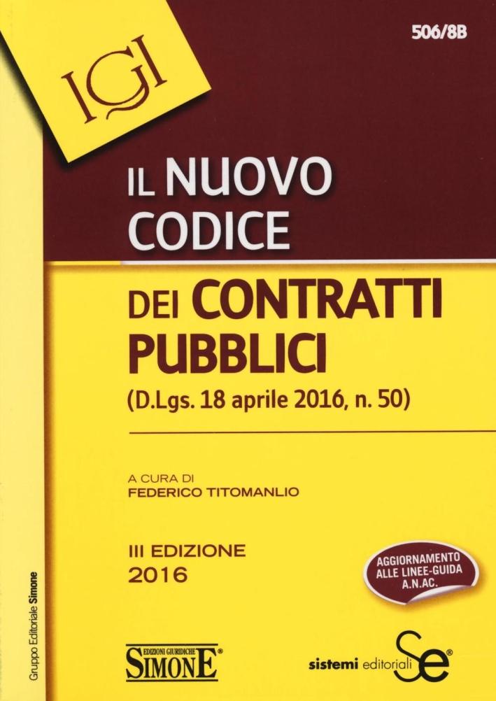 Nuovo codice dei contratti pubblici.