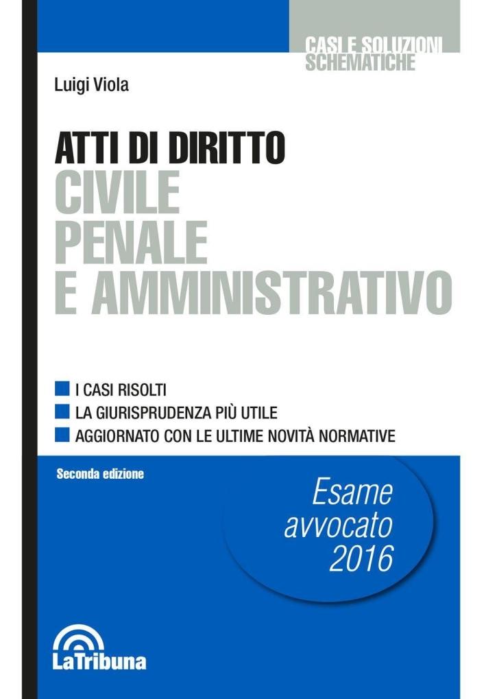 Atti di diritto civile penale e amministrativo.