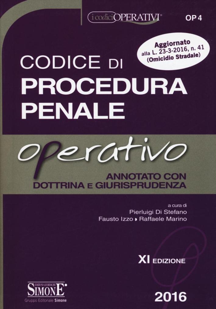 Codice di procedura penale operativo.