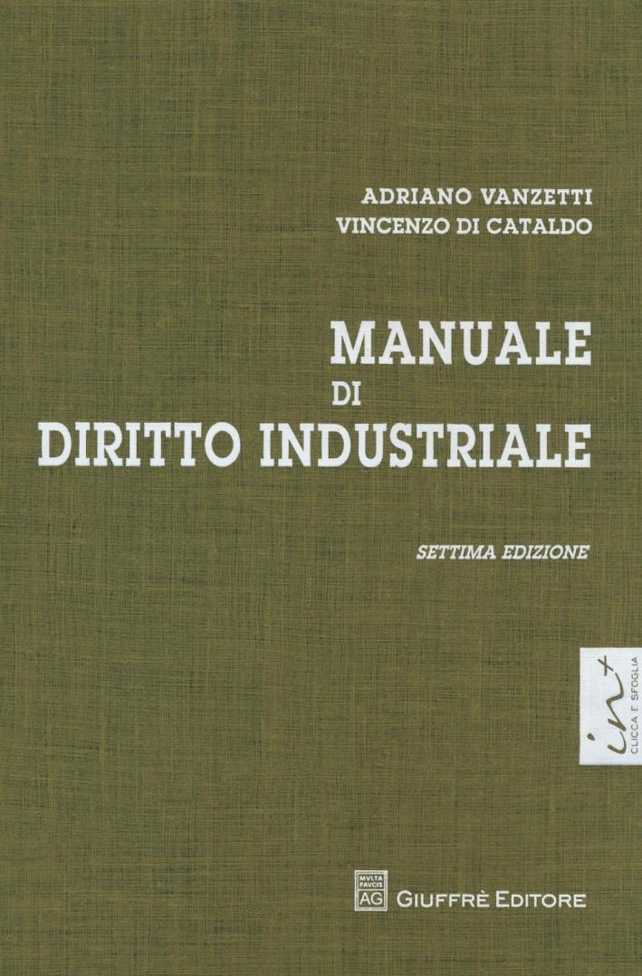 Manuale di diritto industriale.