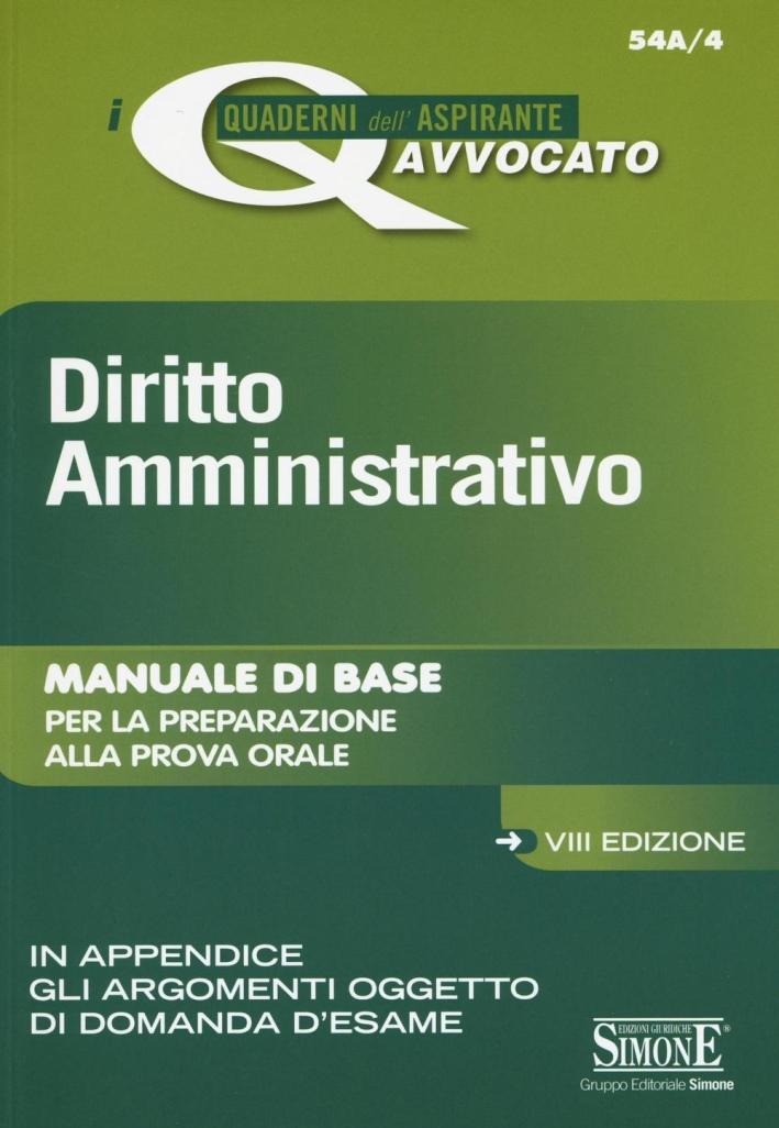 Diritto amministrativo.