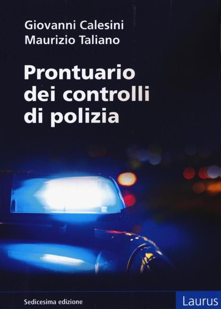 Prontuario dei controlli di polizia.